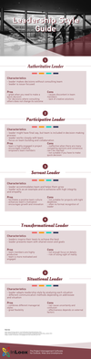 Infographic Leadership Style Guide: How to Lead More Effectively