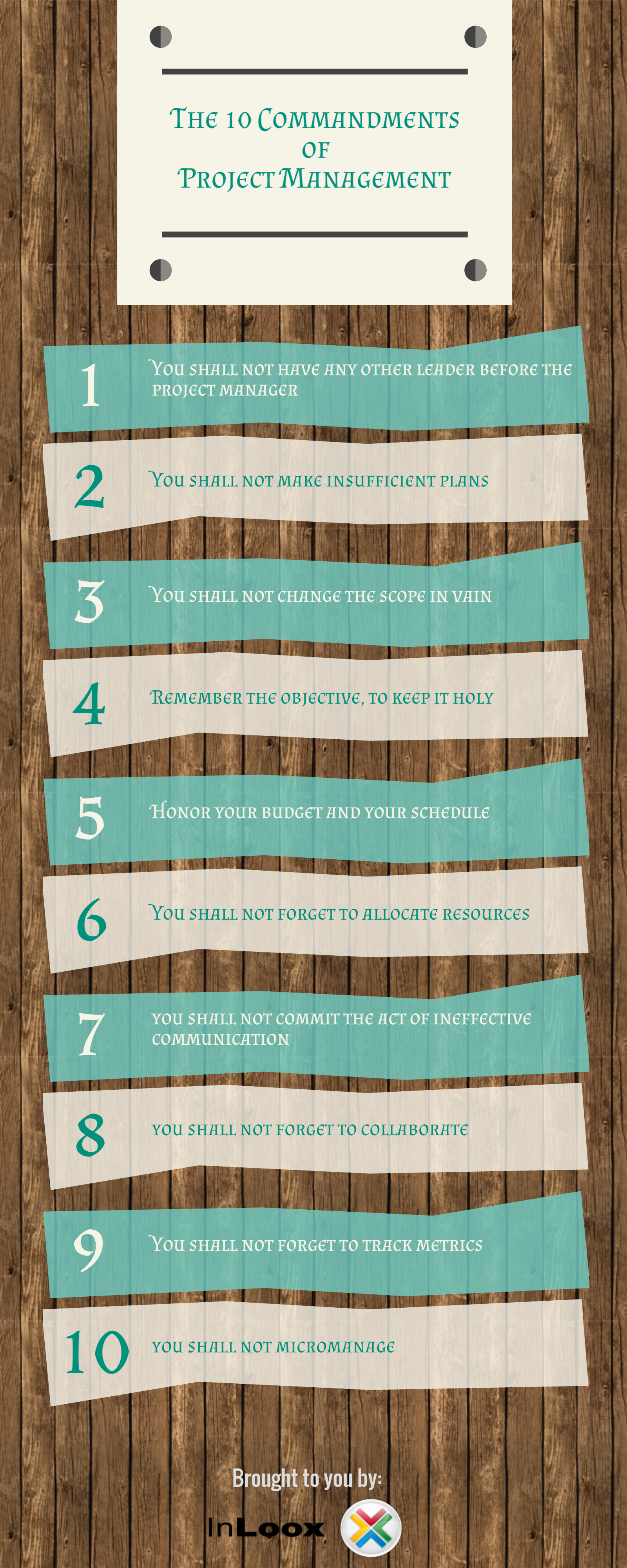 INFOGRAPHIC The 10 Commandments of Project Management