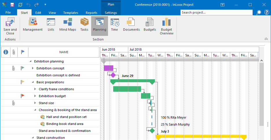 InLoox 10: InLoox now blends even more seamlessly into Outlook 2016