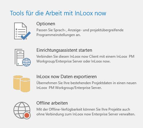 InLoox 10: Nun können auch InLoox now! Nutzer ein Backup Ihrer Daten machen und sogar zu InLoox PM wechseln, andersherum ist es natürlich auch möglich.