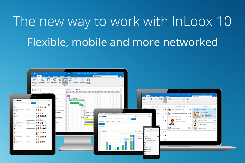 The new way to work with InLoox 10: Flexible, mobile and more networked