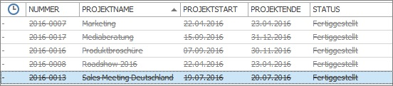 InLoox Best Practice 3_Archiv Übersicht