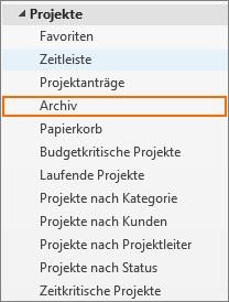 InLoox Best Practice 3_Archiv Baumstruktur
