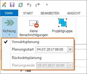 InLoox Best Practice 3_Planungsstart ändern