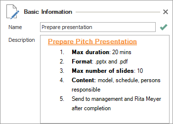 InLoox Best Practice Tips 2: How to format task descriptions