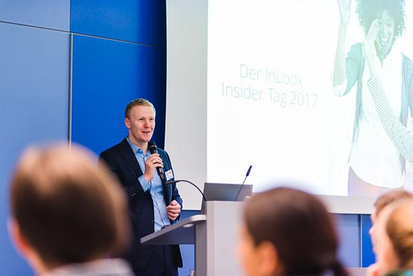 InLoox Insider Tag 2017: InLoox Gründer und Geschäftsführer Dr. Andreas Tremel begrüßt die Teilnehmer