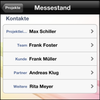 InLoox Mobile Apps - Projektkontakte