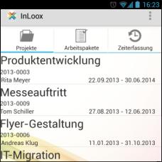InLoox Mobile Apps - Projektliste