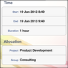 InLoox Mobile Apps - Time tracking