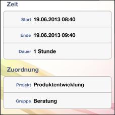 InLoox Mobile Apps - Zeiterfassung