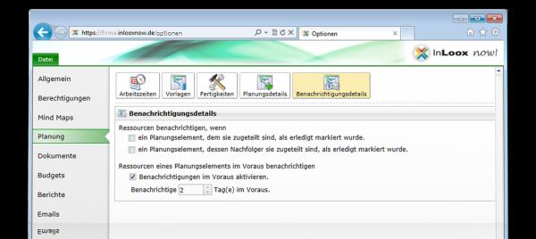 InLoox now! E-Mail-Erinnerung
