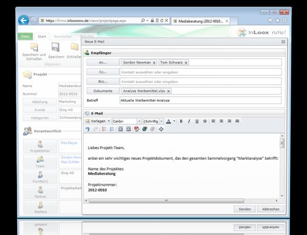 InLoox now! - Email versenden
