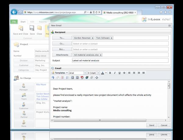 InLoox now! - Send e-mail