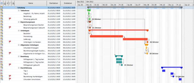 InLoox PM Planungsvorlage Schulung