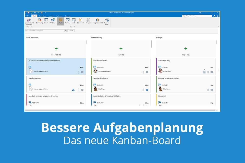 Bessere Aufgabenplanung mit dem neuen Kanban-Board