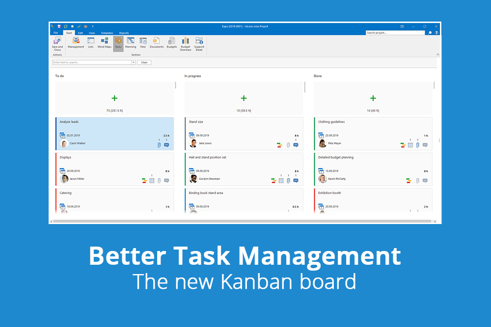 Better task management: The new Kanban board