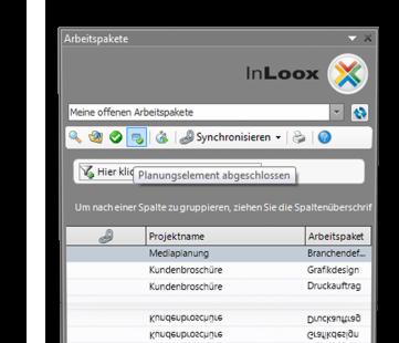 Planungselement abschliessen - InLoox PM 7.5