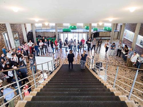 PM Camp München 2017 - Tag 1: Begrüßung im Mosaiksaal des Physiologikums der LMU