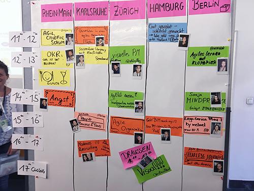 PM Camüp München 2017 - Die Sessionplanung an Tag 1