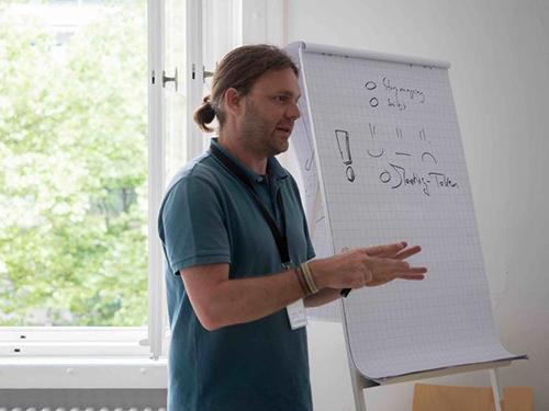 PM Camp münchen 2017 - Session Visuelles Projektmanagement mit Christian Botta von Visual Braindump und Bernhard Schloss