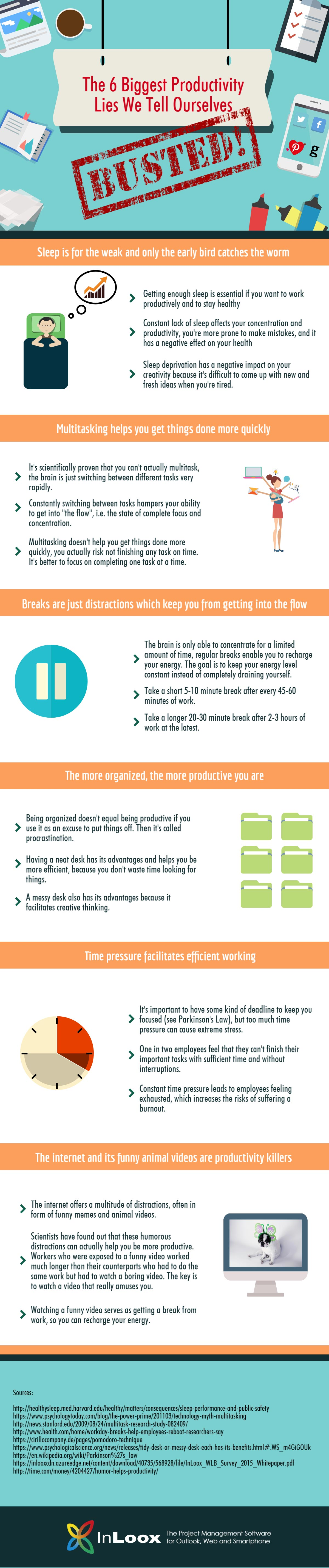 Myths Busted: The 6 Biggest Productivity Lies We Tell Ourselves [INFOGRAPHIC]