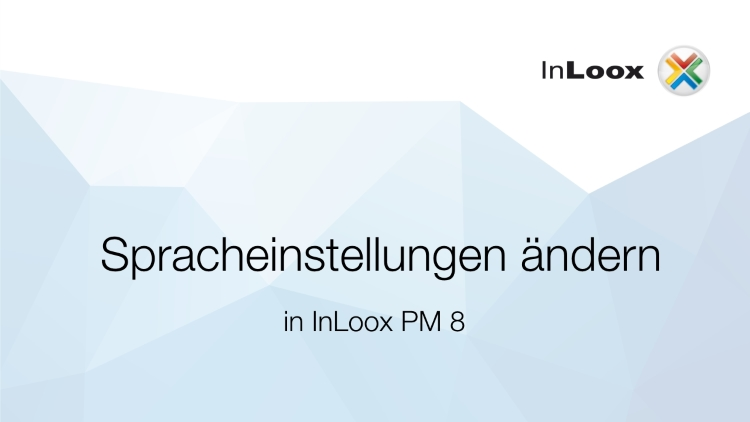 Ändern der Sprache in InLoox PM 8