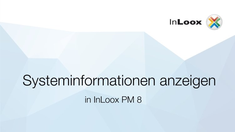 Systeminformationen anzeigen in InLoox PM 8