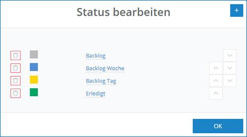 So bearbeiten Sie den Kanban-Status in der InLoox Web App