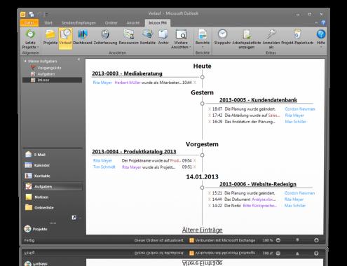 Verlauf - InLoox PM 7.5 für Outlook