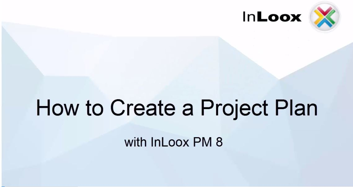 How to create a project plan (Gantt Chart) with InLoox PM 8