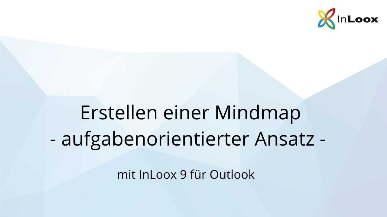 Erstellen einer Mindmap (aufgabenorientiert) - InLoox 9 für Outlook