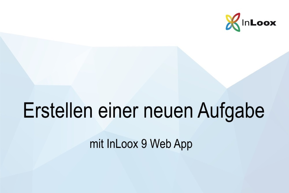 Video Tutorial - Web App - neue Aufgabe