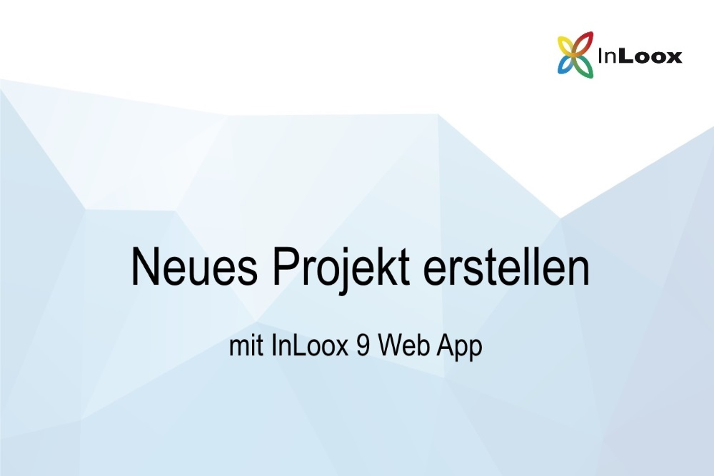 Video Tutorial - Web App - neues Projekt