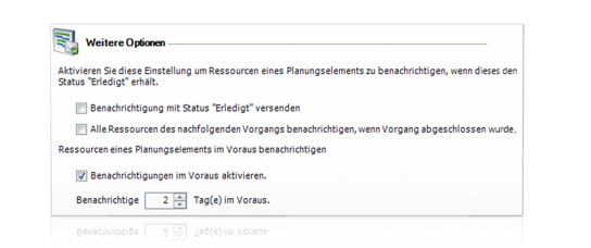 Vorab-Erinnerung per E-Mail - InLoox PM 7.5