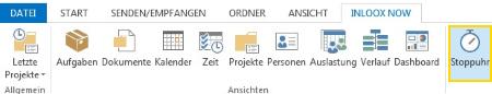 Die in InLoox für Outlook integrierte Stoppuhr