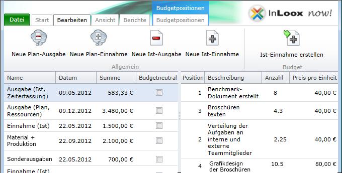 Budgetpositionsliste