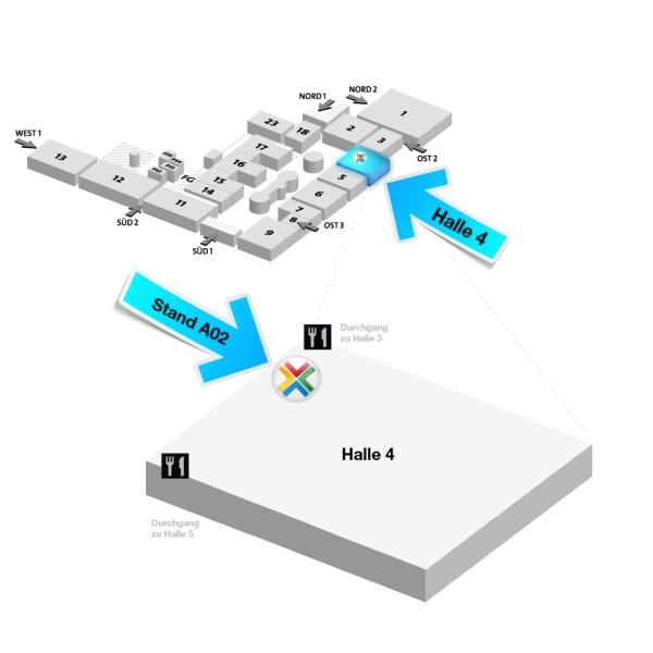 InLoox auf der CeBIT 2013 - Lageplan