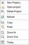 Context menu_timeline