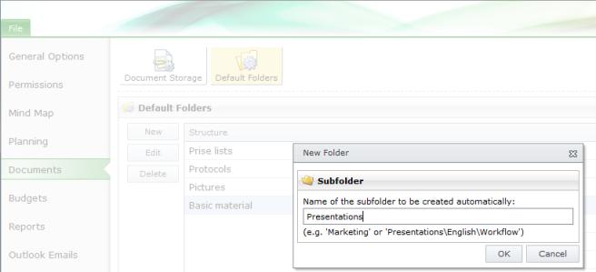 Create new subfolder