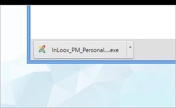 InLoox-Datei im Downloadbereich Ihres Browsers