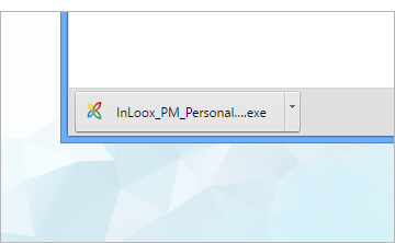InLoox file in the download area of your web browser