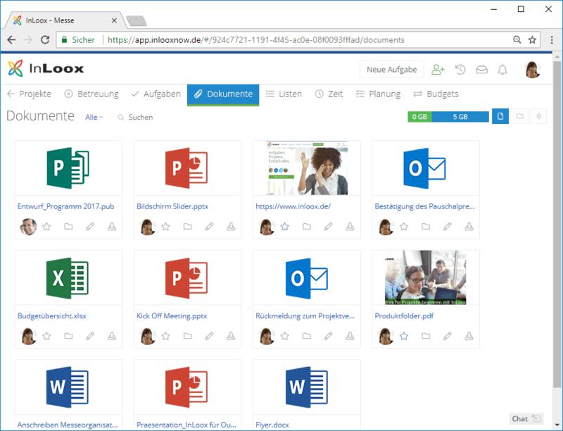 InLoox Web App: Dokumente