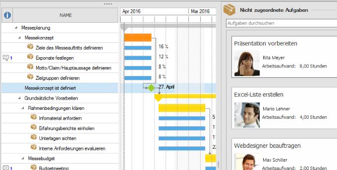 InLoox 9 Aufgaben zur Planung