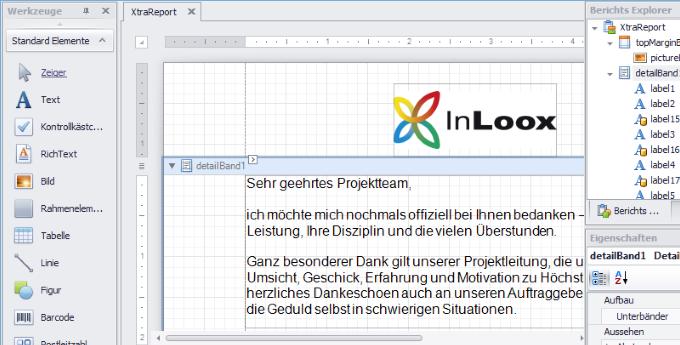 InLoox 9 Berichtsdesigner