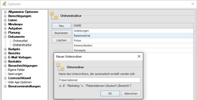 InLoox Einheitliche Dateistruktur