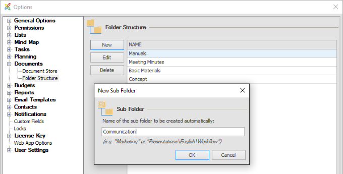 InLoox 9 Consistent File Structure