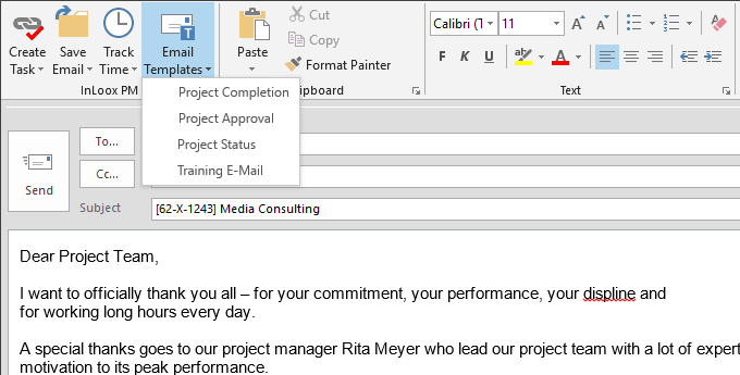 Project manager email templates gallery template design for Project manager email templates