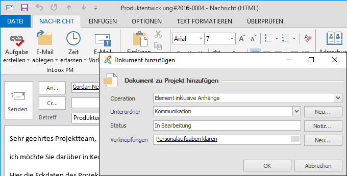 InLoox 9 E-Mails