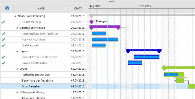 InLoox 9 Gantt Chart