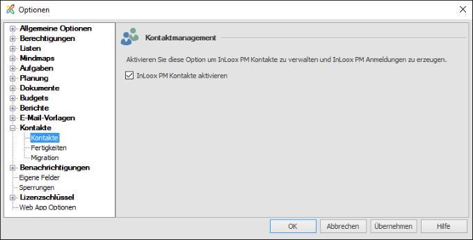 InLoox 9 Nutzung ohne Exchange Server